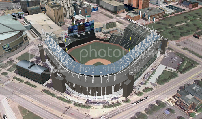Progressive Field (Cleveland, OH); 3D model by jcoreysharp