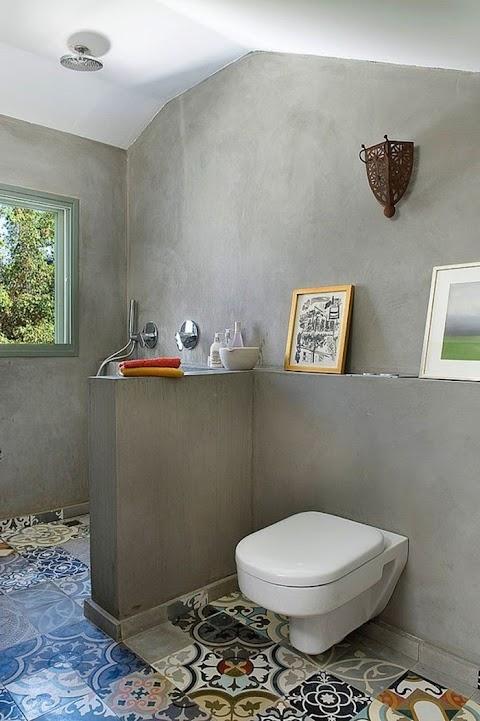 Badezimmer Fliesen Retro