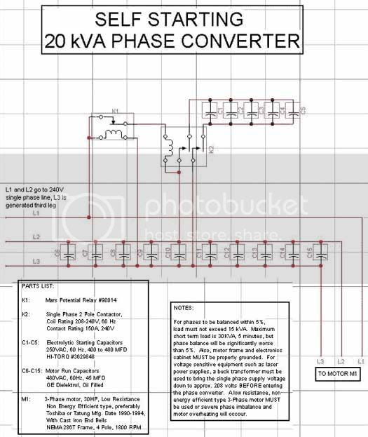 Rotary Phase Converter Wiring Diagram: 33 1 Phase To 3 Phase Converter Diagram