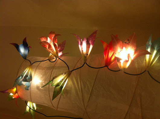 Spring Time DIY Origami Light Decorations