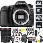 Canon EOS 80D DSLR Camera (Body) + Canon 17-40mm Lens Wide Angle Combo