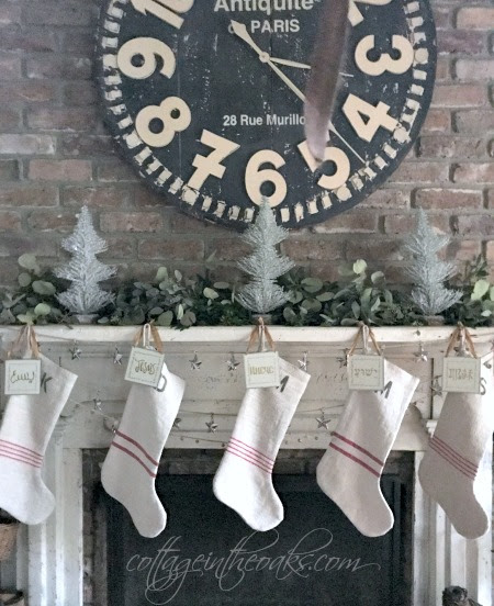 Christmas Cottage Mantel - Cottage in the Oaks