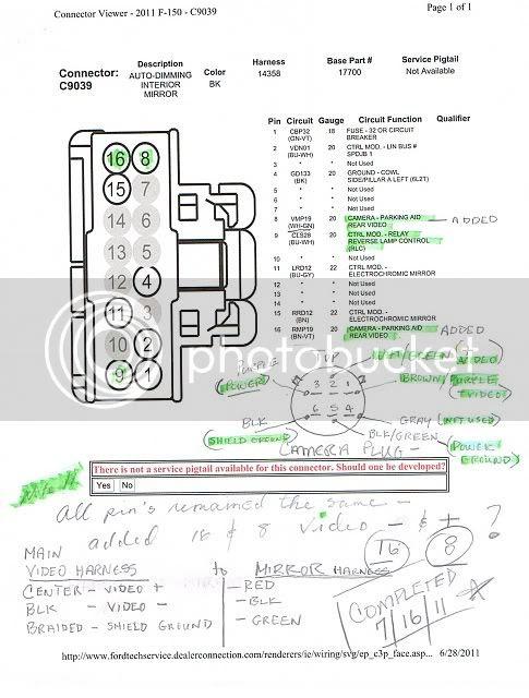 Ford F150 Backup Camera Wiring Diagram : backup, camera, wiring, diagram, Backup, Camera, Wiring, Diagram