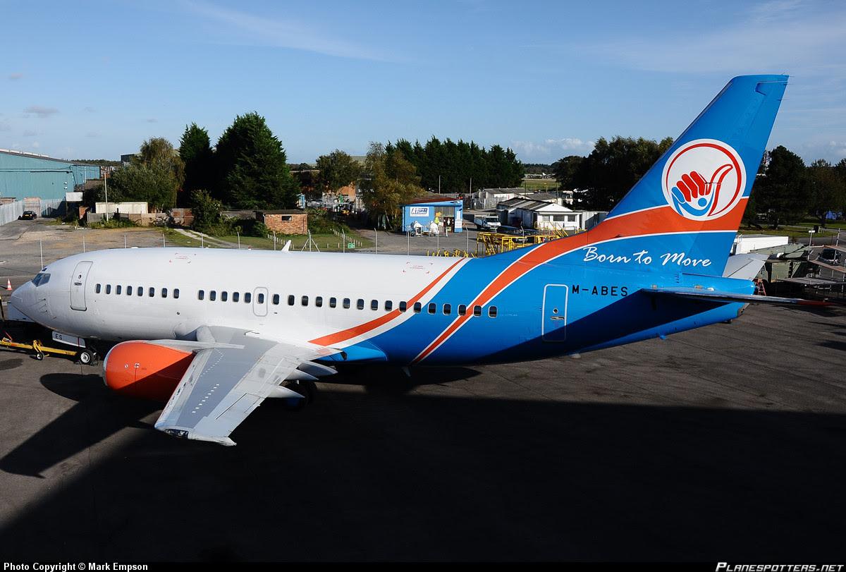 Nova Airways Boeing 737-500, Bournemouth