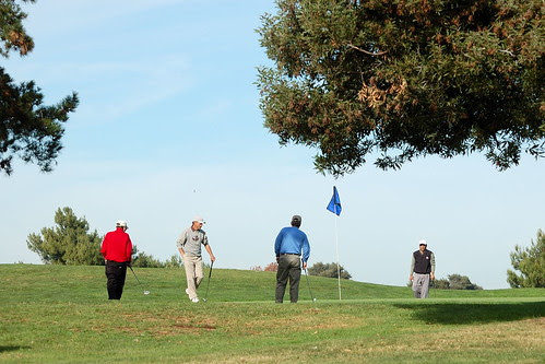 Golfers at Shoreline Golf Course