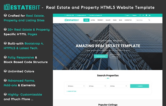 EstateBit - Free Real Estate Website Template
