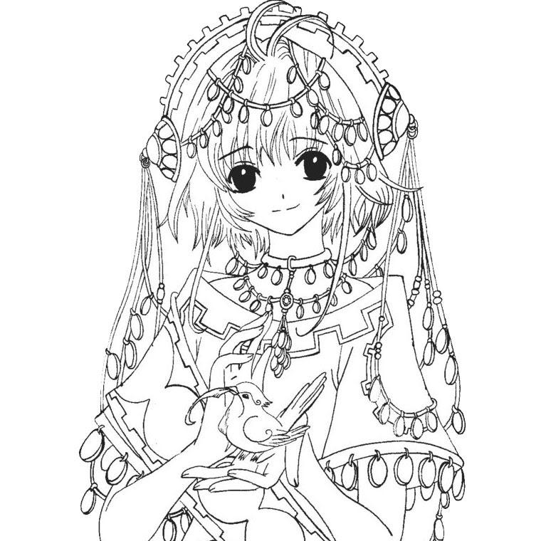 63 Dessins De Coloriage Fille Manga à Imprimer Sur Laguerchecom