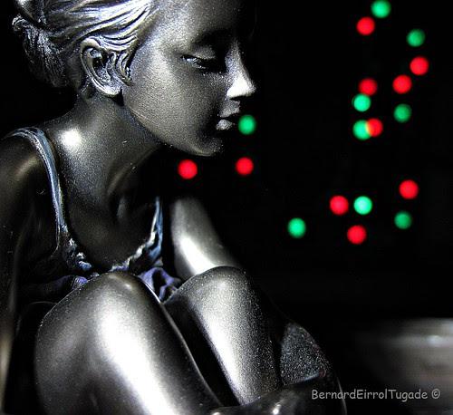 Christmas Ballerina Bokeh