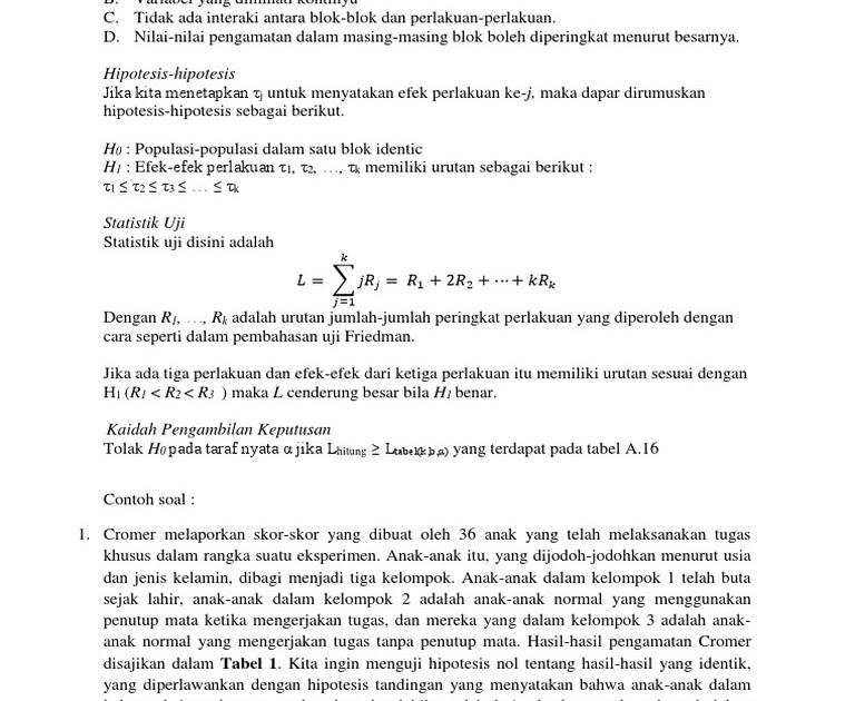 Contoh Soal Hipotesis Statistik Dan Penyelesaiannya ...