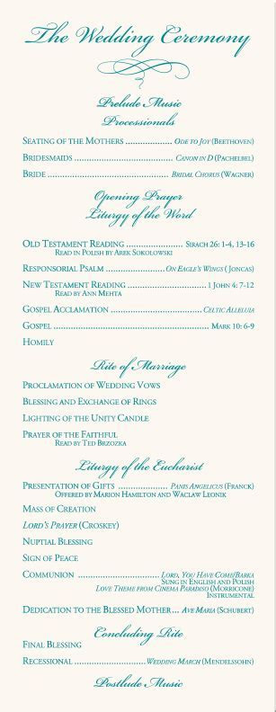 Calla Lily Wedding Program Examples Wedding Program