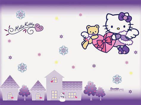 gambar  kitty wallpaper ungu gambar  kitty