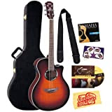 Yamaha APX500FM Old Violin Sunburst Flamed Maple Top Acoustic-Electric Guitar Bundle with Yamaha Hard Case, DVD...