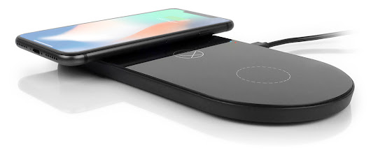 LXORY Dual Wireless Charging Pad 3-in-1 Qi Charger Station