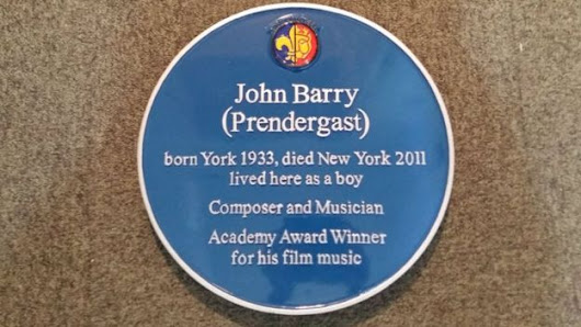 Blue plaque commemorating John Barry unveiled in York | The James Bond Dossier