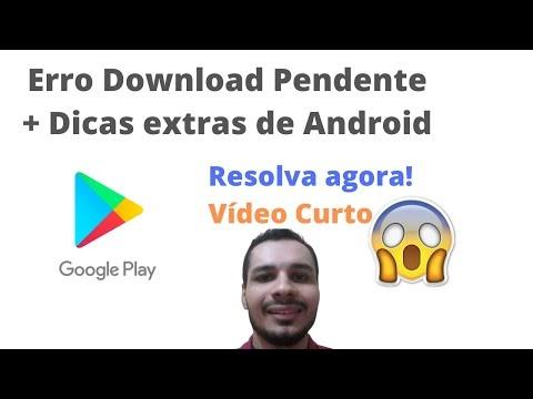Download Pendente na Play store - Não Baixa nada? Aprenda Resolver