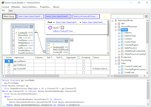 Active Query Builder 3: new major version for WinForms and WPF is out. Download and try now!