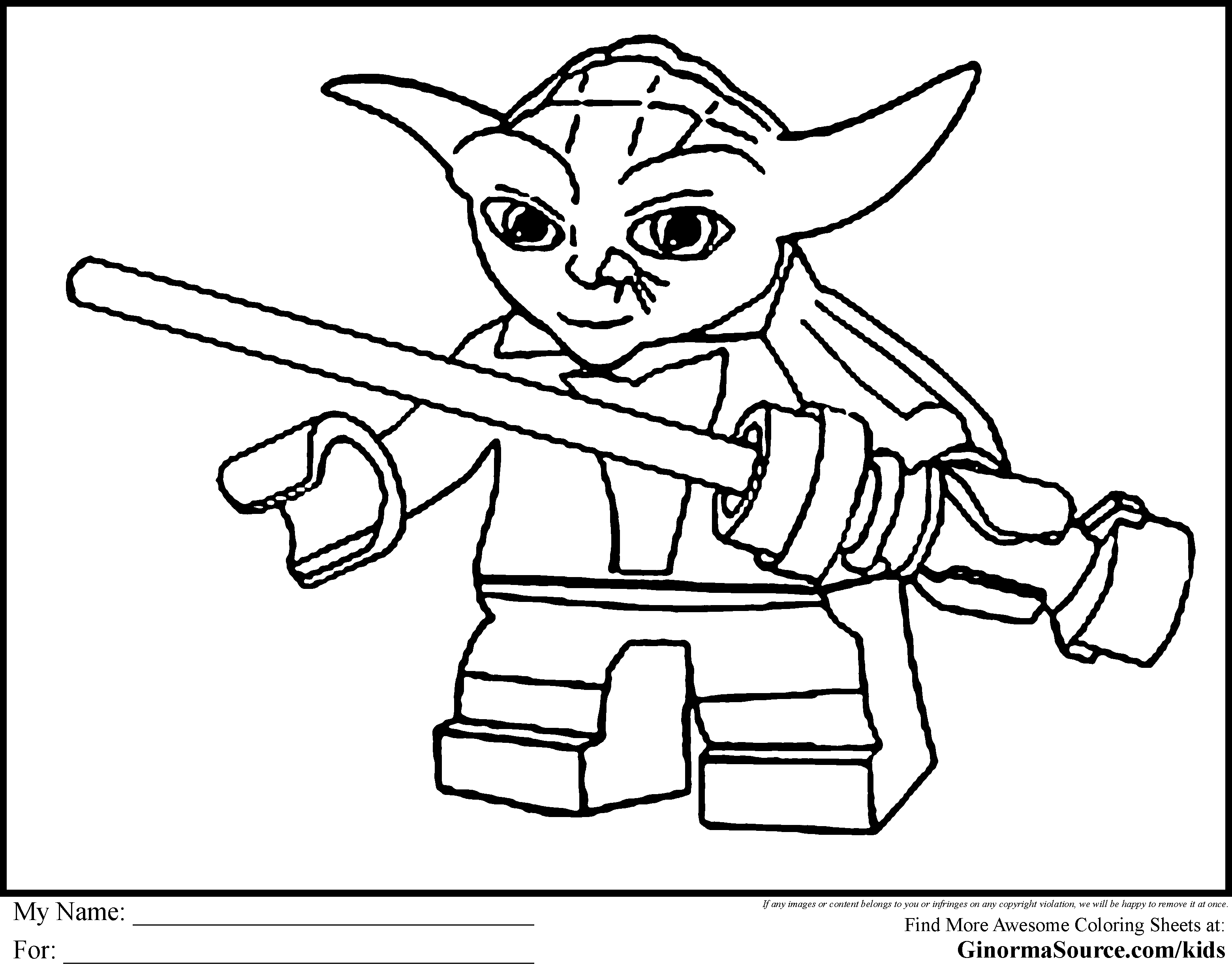 Free Coloring Pages For Kids Star Wars Drawing With Crayons
