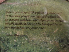 Dog Quote on soldered ornament