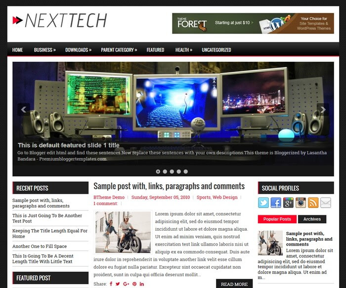 NextTech Blogger Template