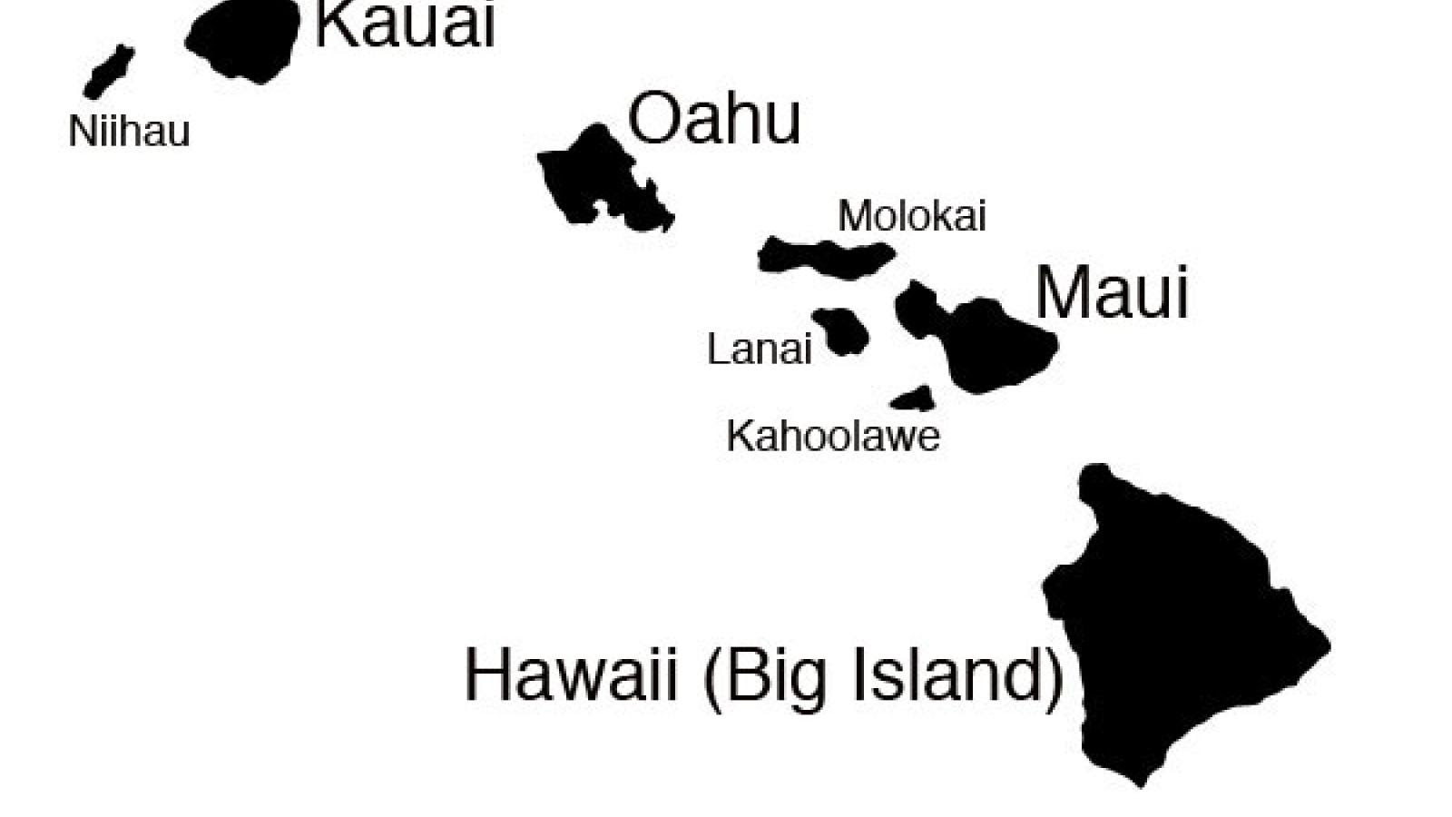 Image Result For Map Of Hawaiian