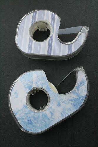 Super-easy DIY customized tape dispensers