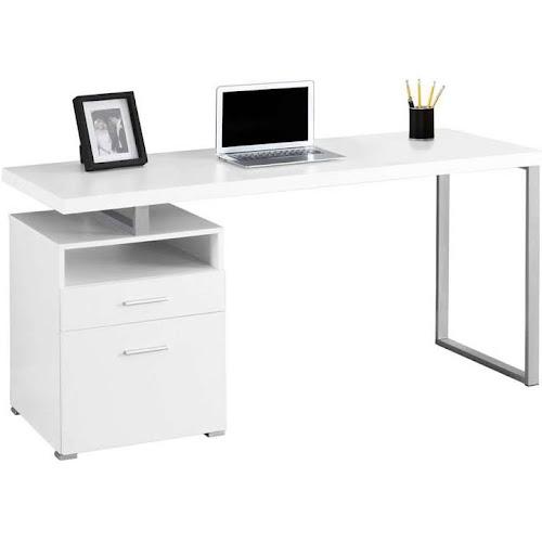 Monarch Specialties I 7144 White 60 Inch Computer Desk