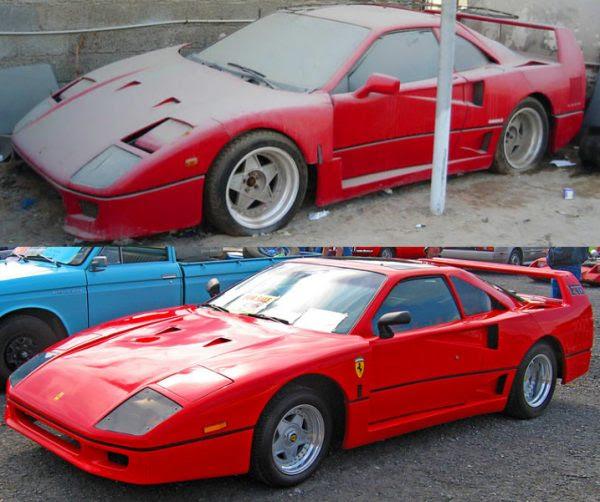 Replica Ferrari F40 lado