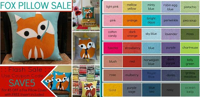 Fox Pillow Sale!
