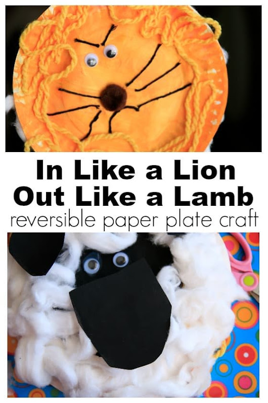 "Adorable {Reversible} ""In Like a Lion, Out Like a Lamb"" Craft for Kids - Happy Hooligans"