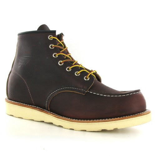 Red Wing 08138D Dark Brown Leather Mens Boots Size 10 UK