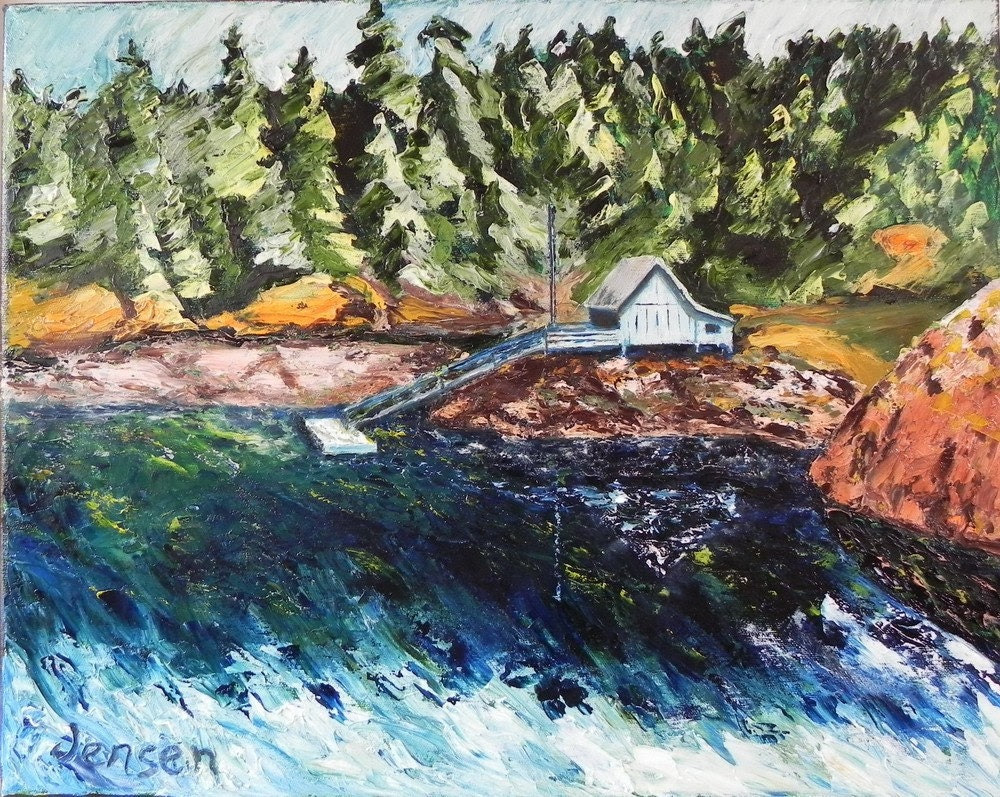 "White House at Smuggler Cove, 20""x16"", oil on canvas"