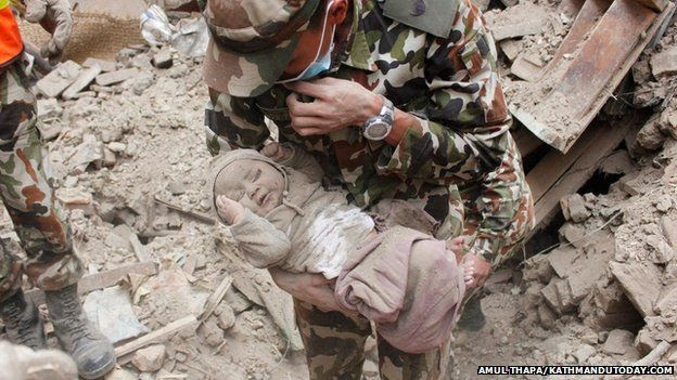 Baby rescued from rubble after 22 hours