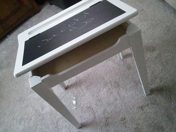 Practical DIY Chalkboard Kids Desk