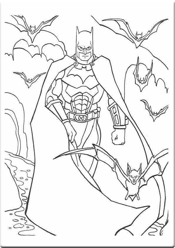 Coloriage Chauve Souris Batman Ancenscp