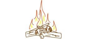 Autocad Ateş çizimi Dwg Indir