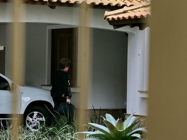 Dilma Rousseff visita filha em Porto Alegre neste sábado (4) (Foto: Fernando Gomes / Agência RBS)
