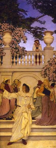 """florentine fete"" by maxfield parrish"