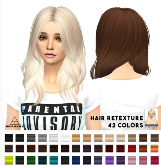 Sims 4 Hairs ~ Miss Paraply: Nightcrawler Turn It Up hairstyle retextured