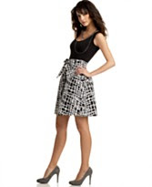 BCX Black-and-White Dress