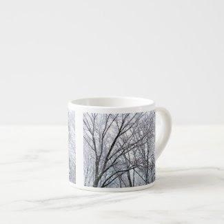 Snow-covered Oak Tree specialtymug