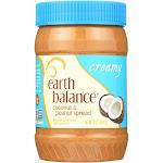 Earth Balance Creamy Coconut And Peanut Spread - Case Of 12 - 16 Oz.