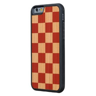Classic Checkered Red and White Pattern Cherry iPhone 6 Bumper