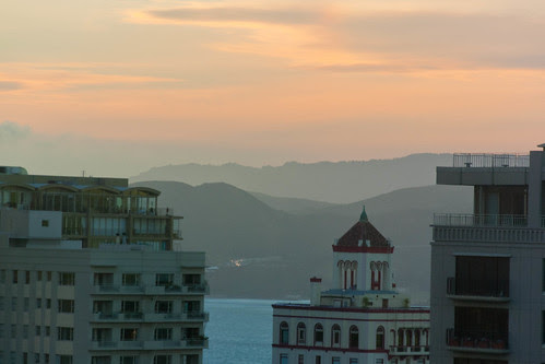 Marin headlands in the sunset