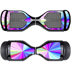 GameXcel (Swagtron T5 Decal, Rainbow) - Skin for Self-Balancing Electric Scooter - Sticker for Skate Hover Board - Decal for Self Balance Mobility Longboard