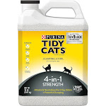 Purina Tidy Cats Clumping Cat Litter 4-in-1 Strength for Multiple Cats - 20lb Jug