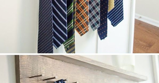 DIY Tie Rack Tutorial | Tie Rack, Rustic Wood and Ties