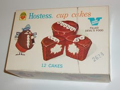 Hostess Cup cakes box