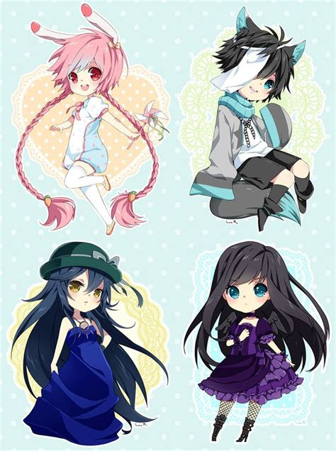 chibi commission batch   inma chibi anime anime chibi