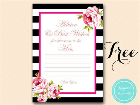 Free Gold Black Stripes Bridal Shower Games   Bridal