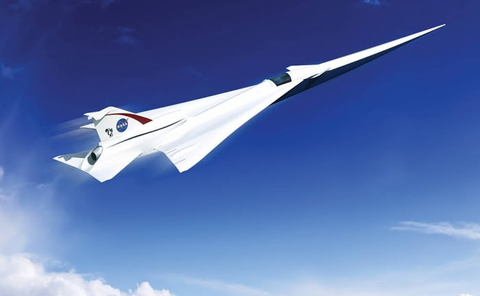 An illustration of what a quiet supersonic passenger aircraft might look like. Image: Lockheed Martin.